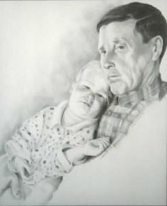 Family Drawing - A Grandpas Love by David Mittner