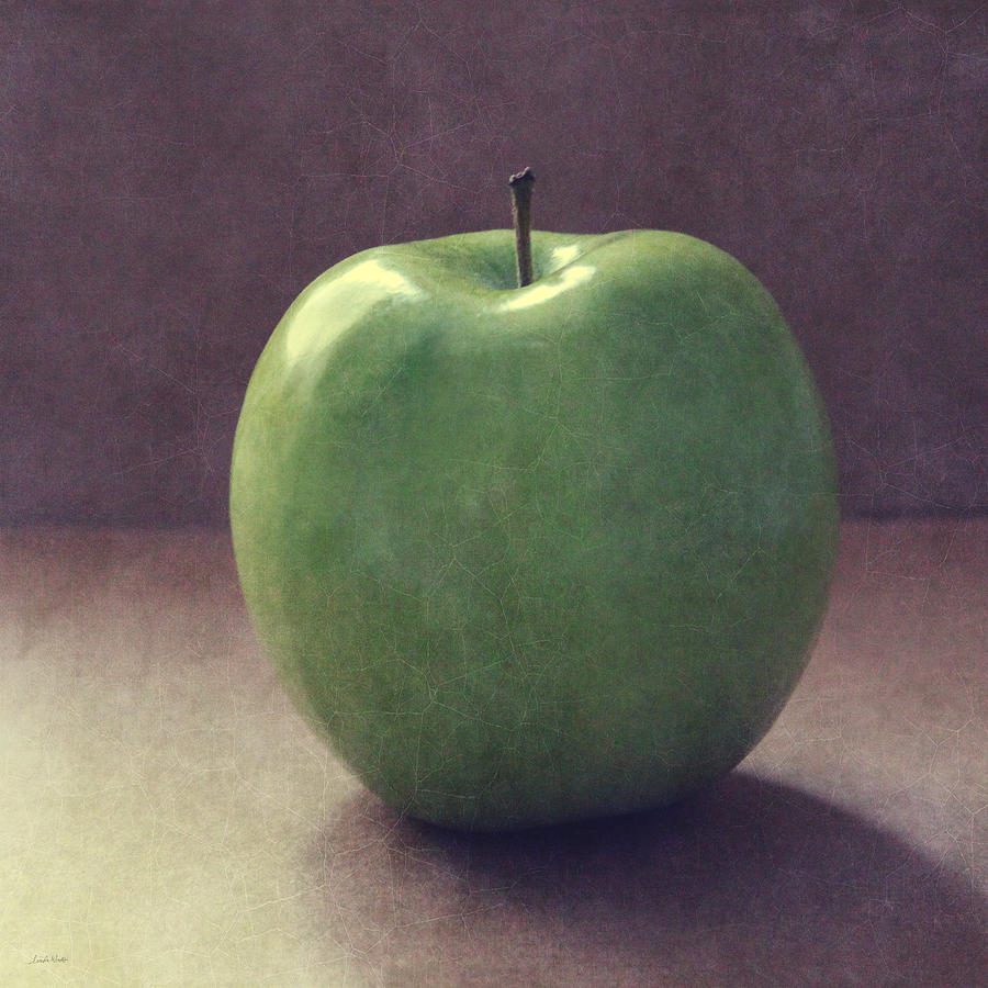 Apple Photograph - A Green Apple- Art By Linda Woods by Linda Woods