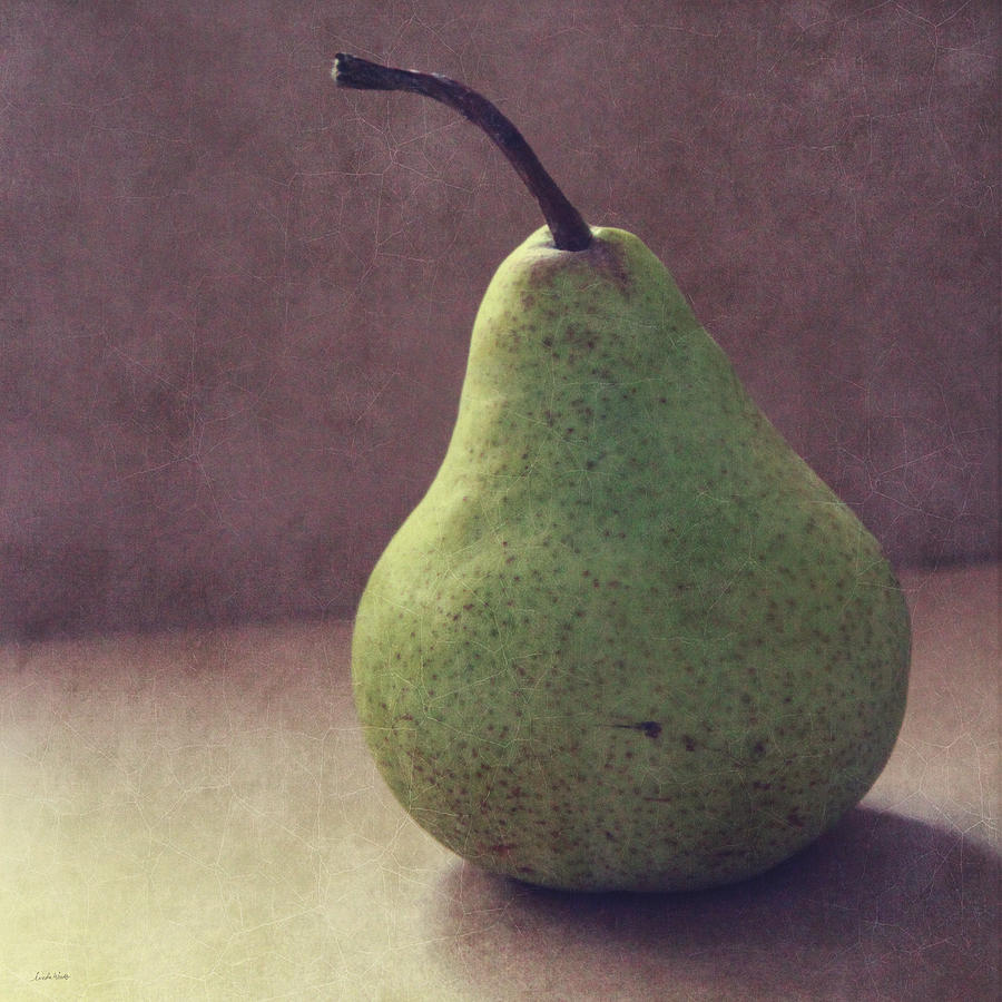 Pear Photograph - A Green Pear- Art By Linda Woods by Linda Woods