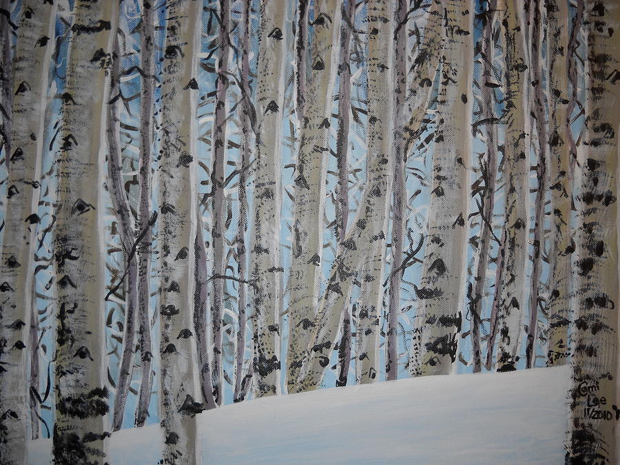 Aspen Painting - A Grove Of Aspens by Cami Lee