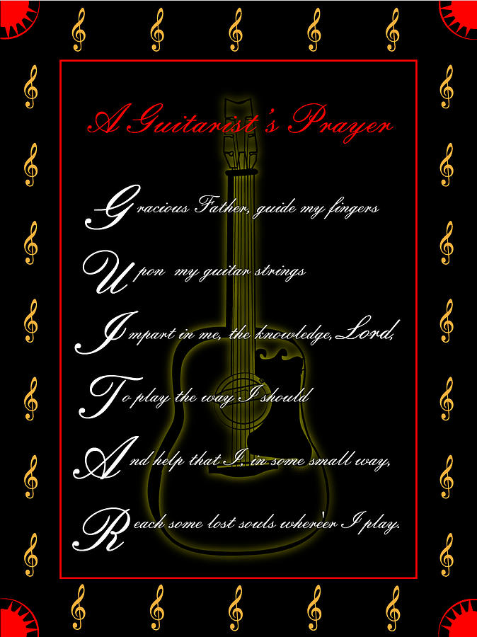 A Guitarist Prayer_1 Digital Art by Joe Greenidge