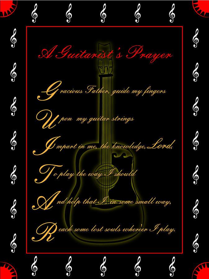 A Guitarist Prayer_2 Digital Art by Joe Greenidge