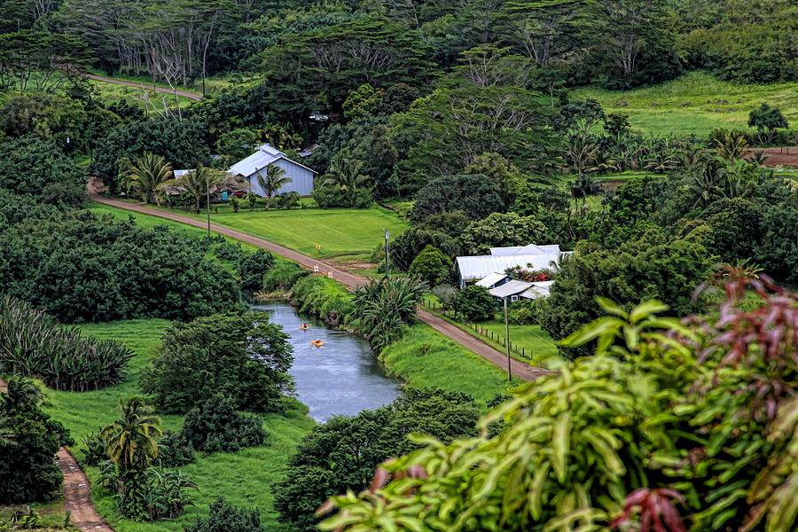 Hanalei Valley Photograph - A Hanalei View by Bonnie Follett
