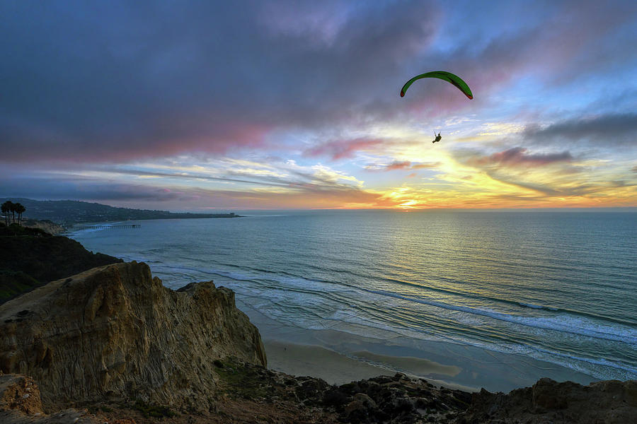 A Hang Glider and a Sunset by Mark Whitt