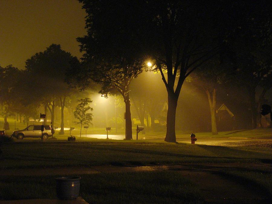 Night Photograph - A Hazy Night On 95th Street by Todd Zabel
