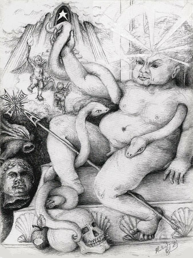 A Herculean Struggle Drawing
