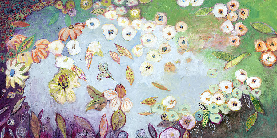 Hummingbird Painting - A Hidden Lagoon by Jennifer Lommers