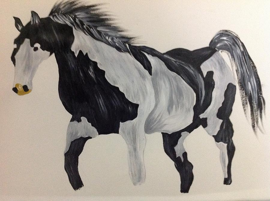 A Horse Alone Painting by Vinamra Sinha
