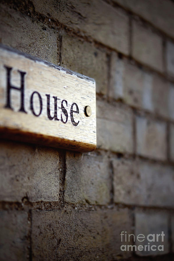 Address Photograph - A House Sign by Tom Gowanlock