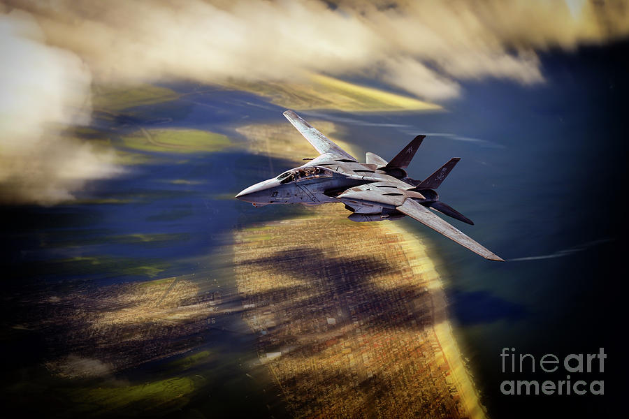 F14 Digital Art - A Jolly Ride by Airpower Art