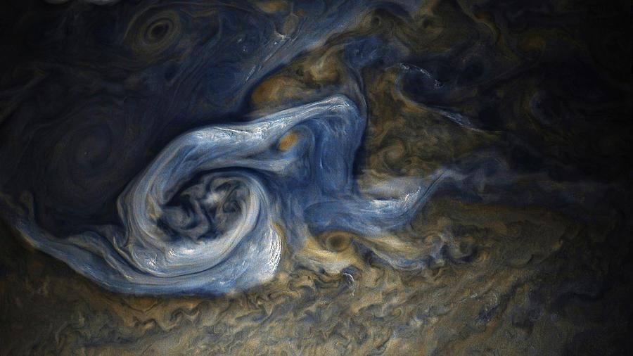 Juno Photograph - A Jovian Tempest by Nasa