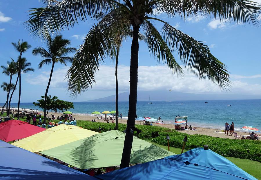 A Kaanapali Beach Scene West Maui Hawaii