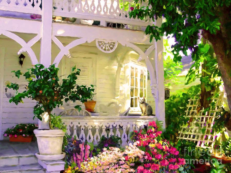 A Key West Porch by David Van Hulst