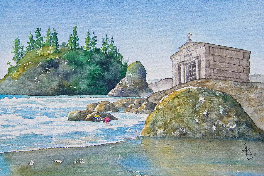 Ocean Painting - A Kingdom By The Sea by Gale Cochran-Smith