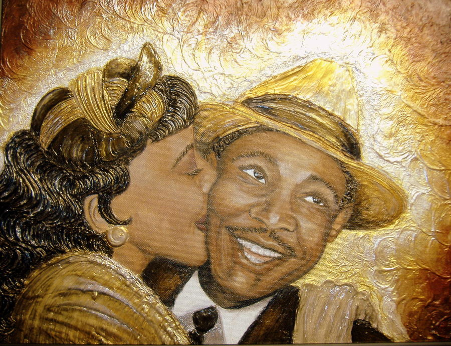 Kiss Painting - A Kiss For A King by Keenya  Woods