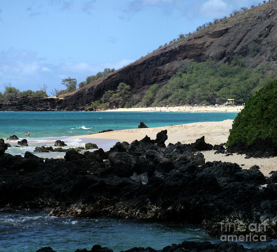 Aloha Photograph - A L O H A  E Ala E Puu Olai Oneloa Big Beach Makena Maui Hawaii by Sharon Mau