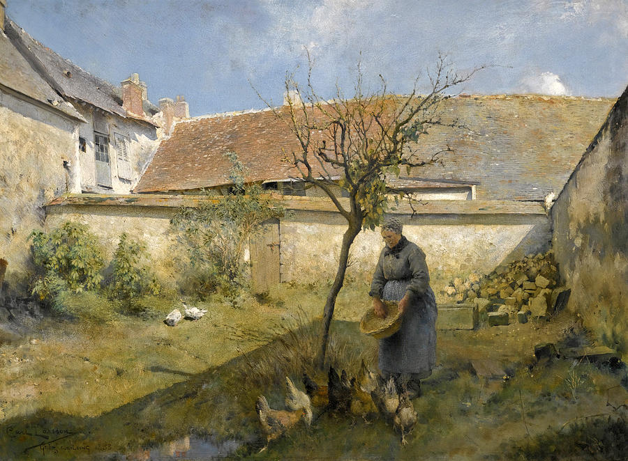 Carl Larsson Painting - A La Campagne by Carl Larsson