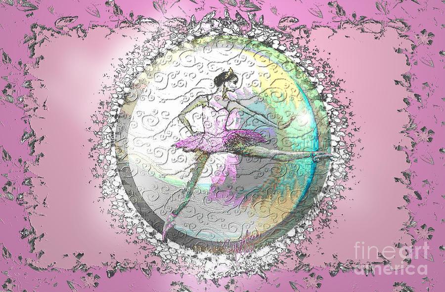Ballet Digital Art - A La Second Pink Variation by Cynthia Sorensen