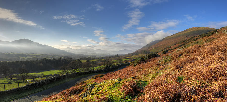 The Lakes Photograph - A Lake District Landscape by Philip Brown