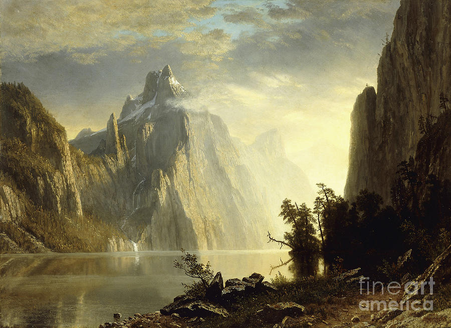 Albert Bierstadt Painting - A Lake In The Sierra Nevada by Celestial Images