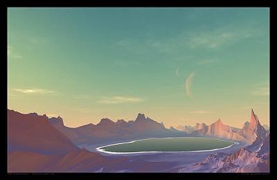 Planets Digital Art - A Lake On Planet Azira by Graham Conrad
