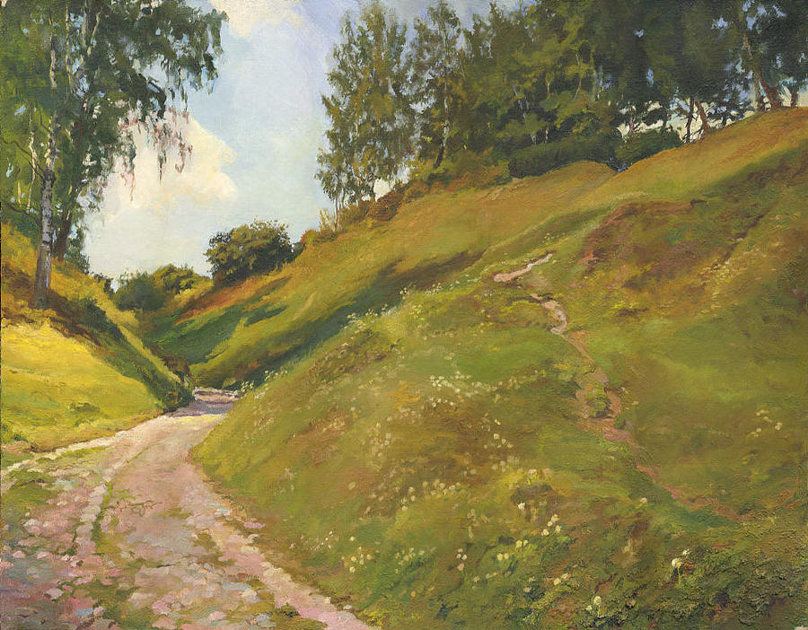 Road Painting - A Landscape In The Vicinity Of Ples 1997 by Denis Chernov