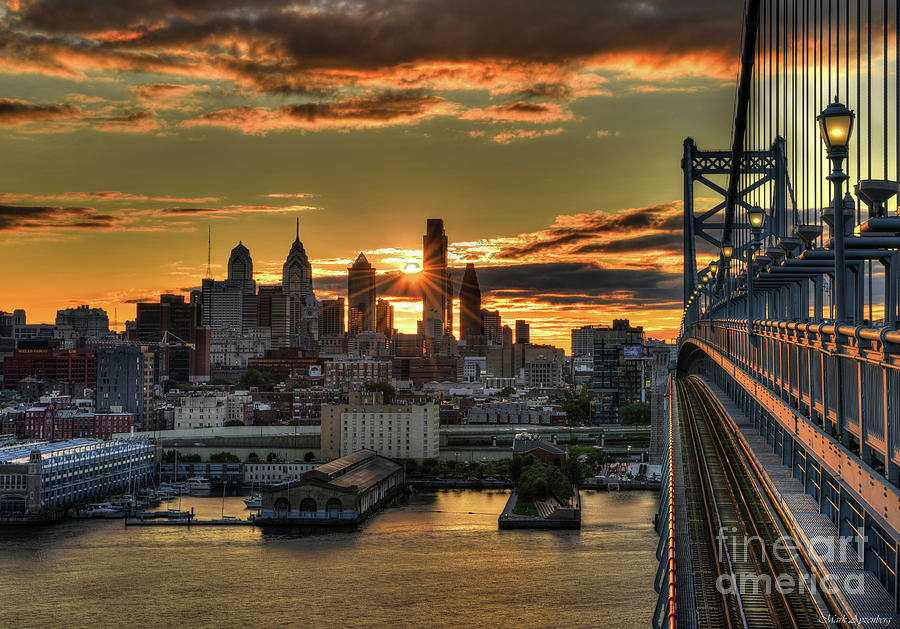 Ben Photograph - A Late Summer Sunset Over Philadelphia - 2017 by Mark Ayzenberg