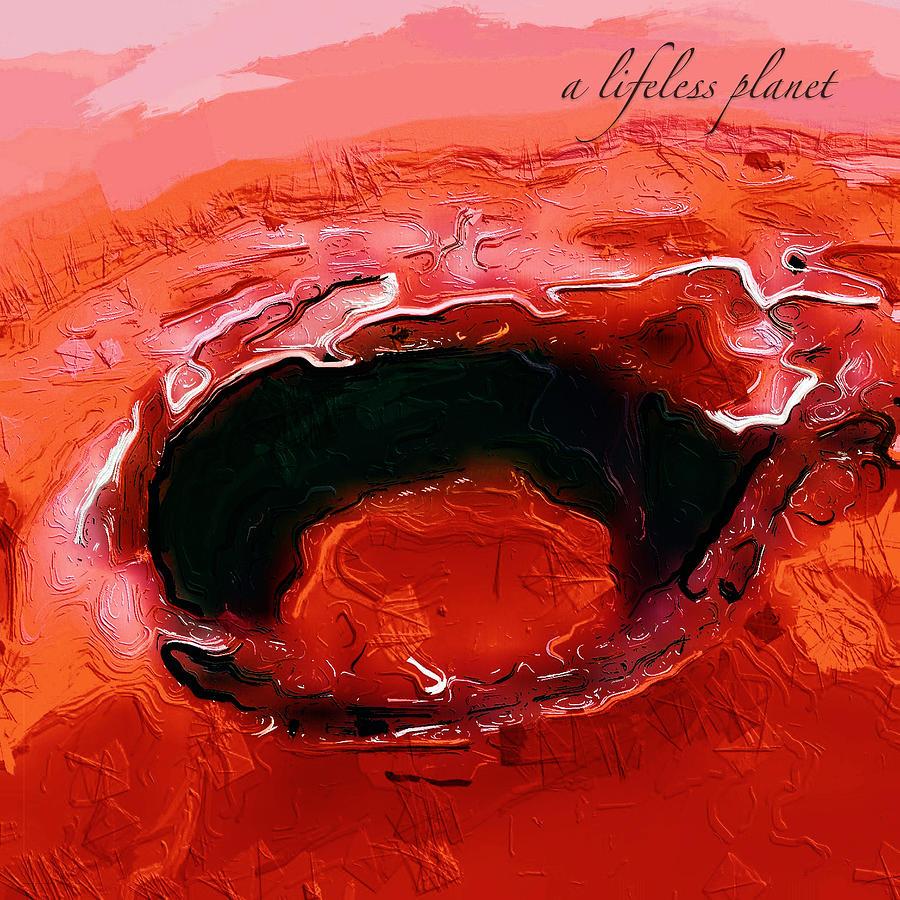 A Lifeless Planet Red Digital Art
