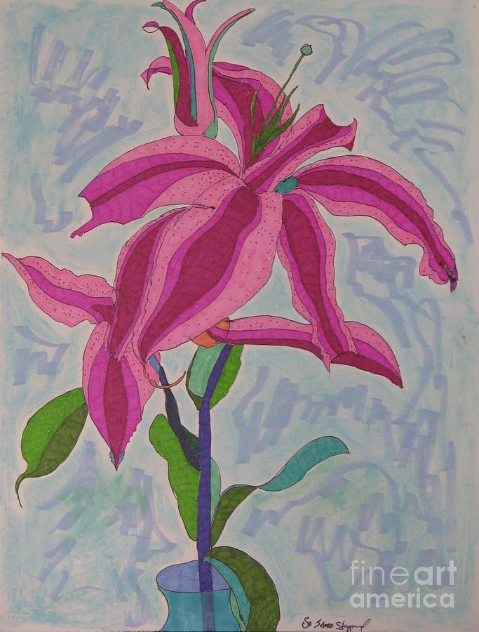 A Lily Mixed Media by James SheppardIII