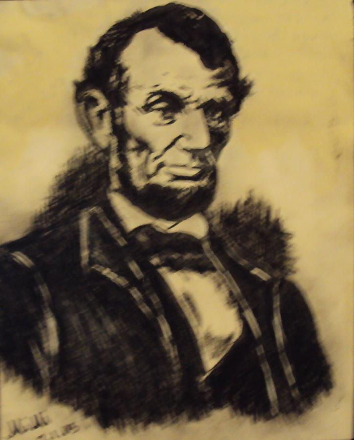 President Painting - A. Lincoln by Mimi Eskenazi