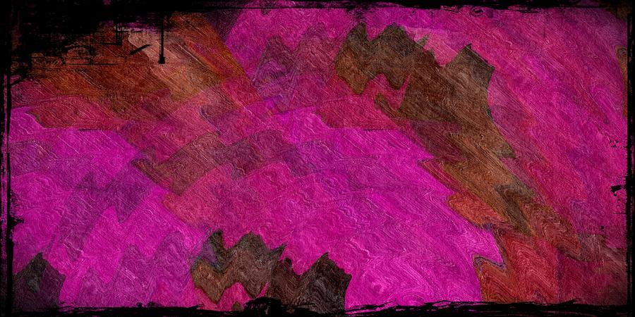Abstract Digital Art - A Lipstick Scrawl by Terry Mulligan