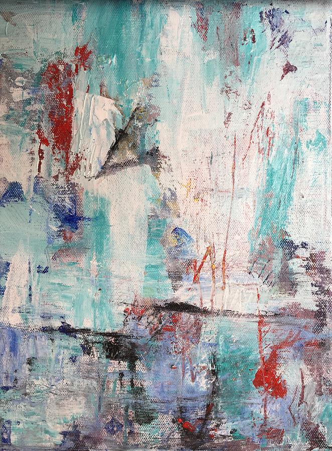 Abstract Painting - A Little Bit Further by Abbie Groves