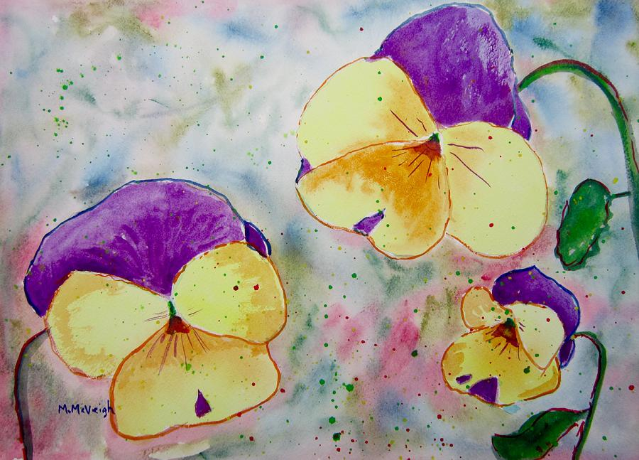Pansy Painting - A Little Bit Of Springtime by Marita McVeigh