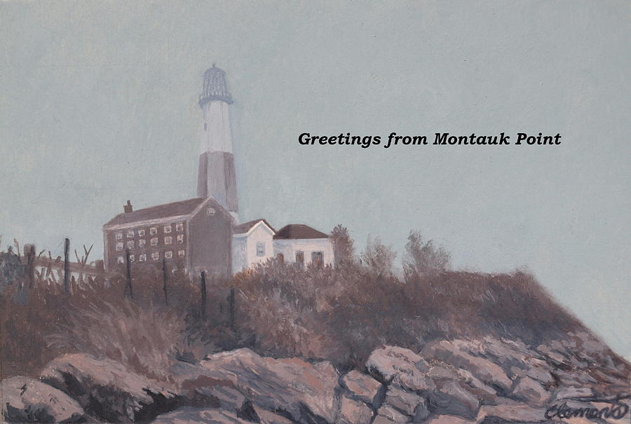 A little fog on Montauk Point Lighthouse by Barbara Barber