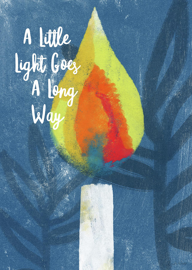 Candle Mixed Media - A Little Light- Art By Linda Woods by Linda Woods