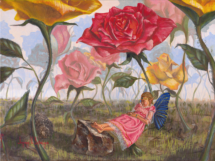 Fairy Painting - A Little Nap by Jeff Brimley