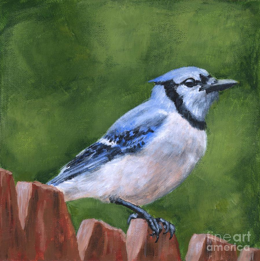 Blue Jay Painting - A Little Piece of Sky by Brandy Woods