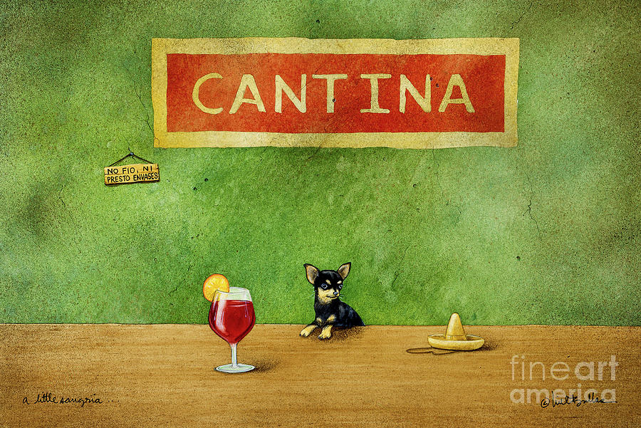 Will Bullas Painting - a little Sangria... by Will Bullas