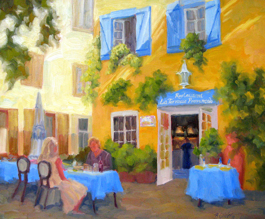 France Painting - A Loaf Of Bread A Jug Of Wine by Bunny Oliver