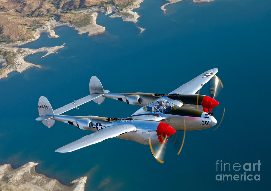 World War Ii Photograph - A Lockheed P-38 Lightning Fighter by Scott Germain