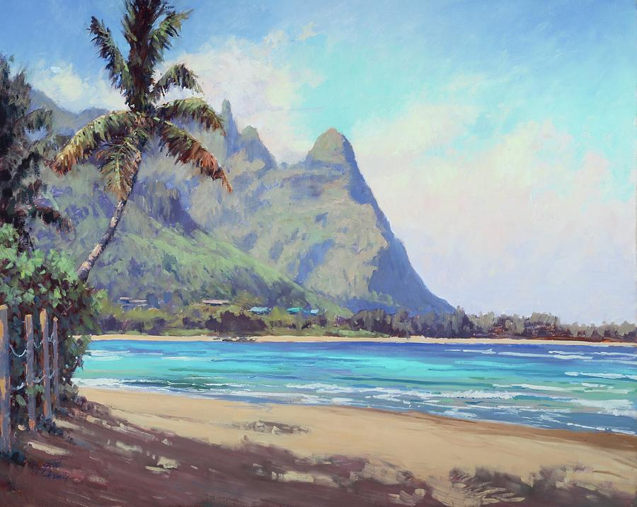 Kauai Painting - A Look At Makana by Pierre Bouret