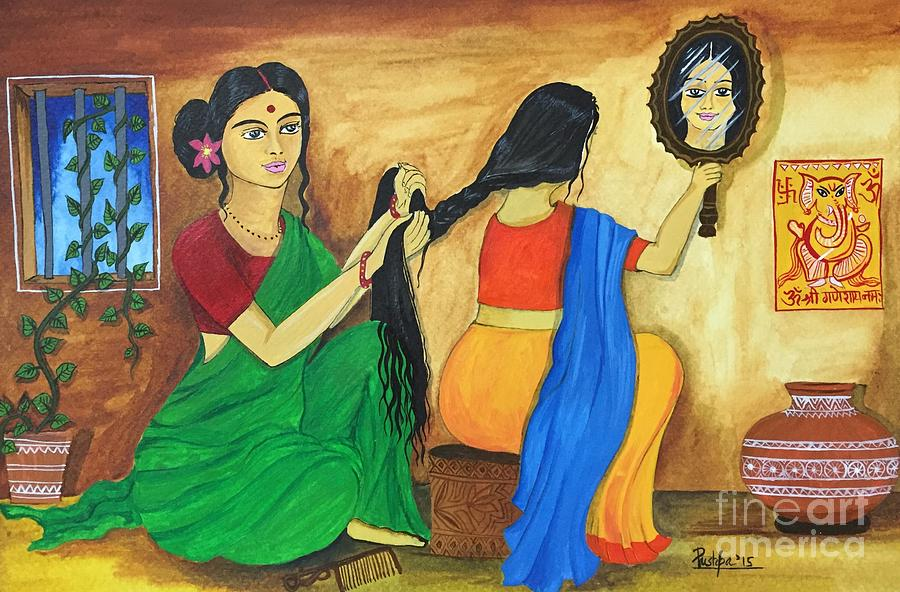 Painting Painting - A Loving Moment  by Pushpa Sharma