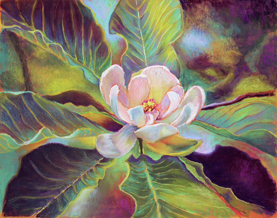 Magnolia Painting - A Magnolia For Maggie by Susan Jenkins