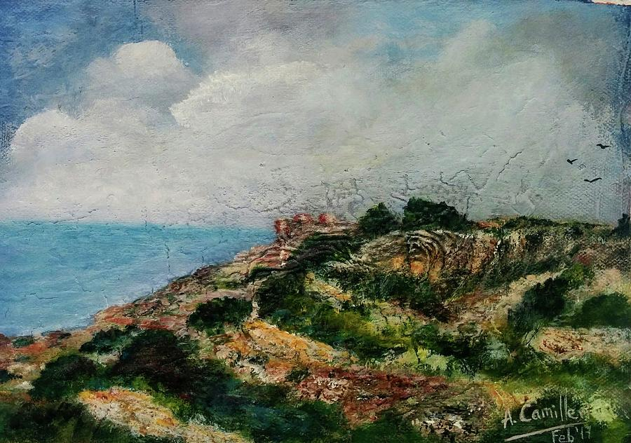 A Maltese Country Landscape Painting by Anthony Camilleri