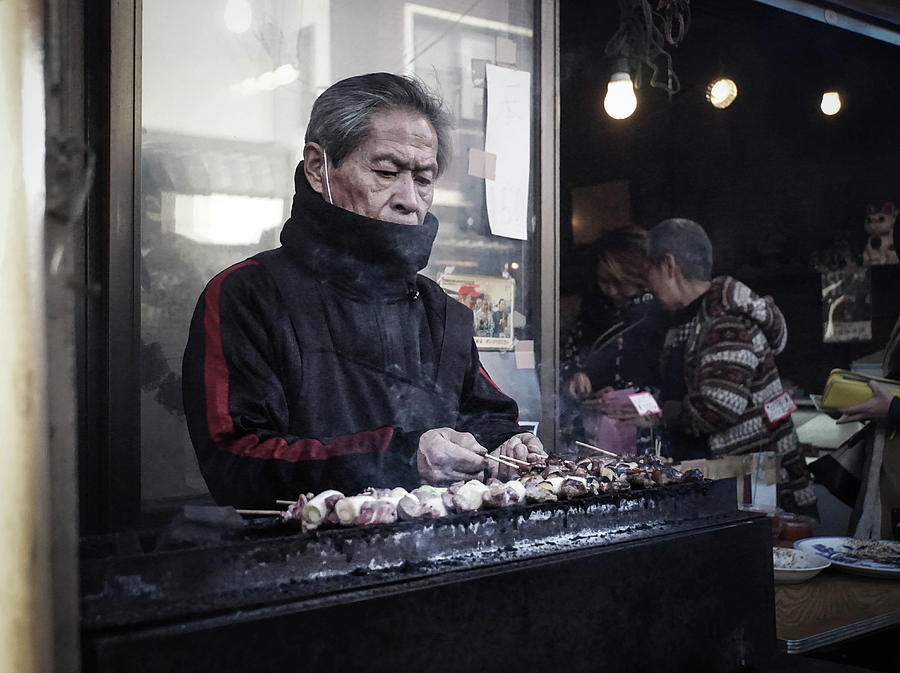 A Man And His Grill Photograph by Paki OMeara