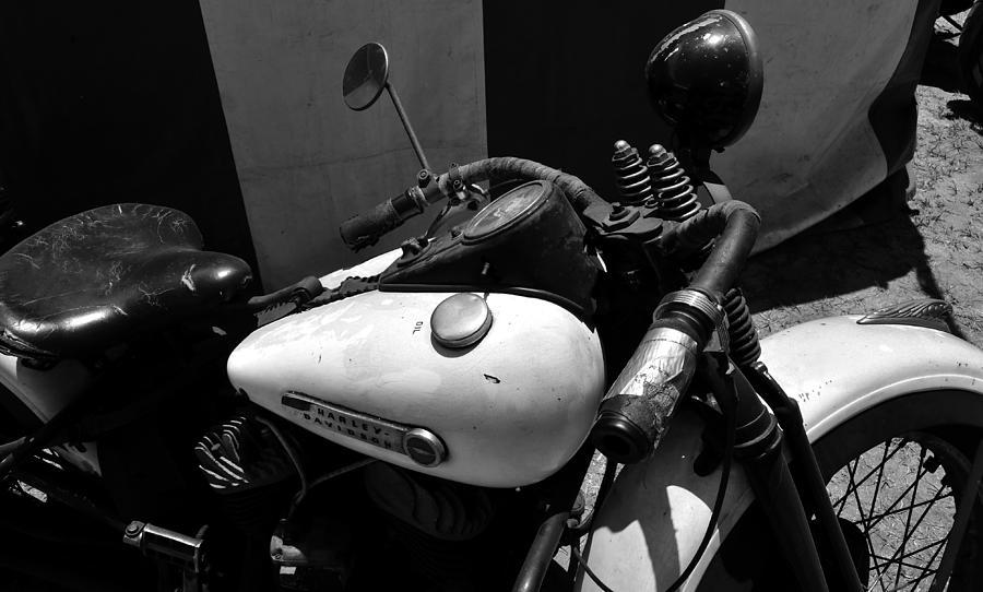Harley Davidson Photograph - A Mans Harley by David Lee Thompson