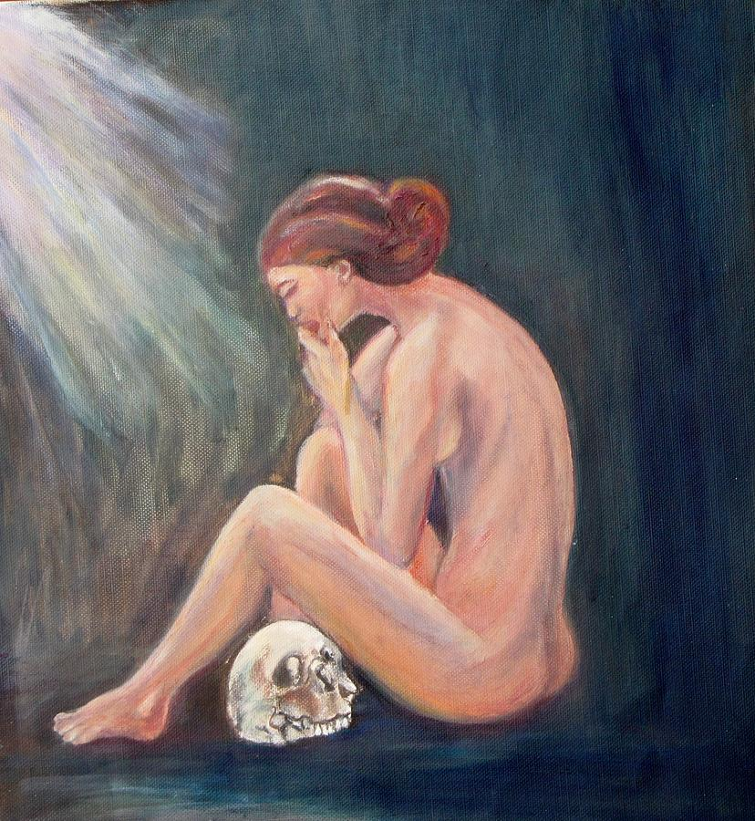 Nude Painting - A Matter Of Time by Caroline Owen-Doar