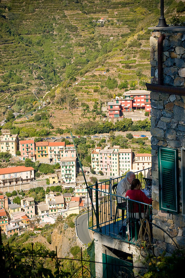 Italy Photograph - A Meal With A View by Carl Jackson