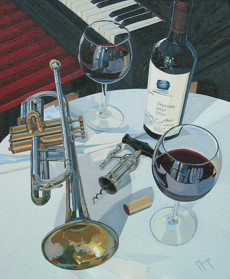 Wine Painting - A Measure of Opus by Christopher Mize