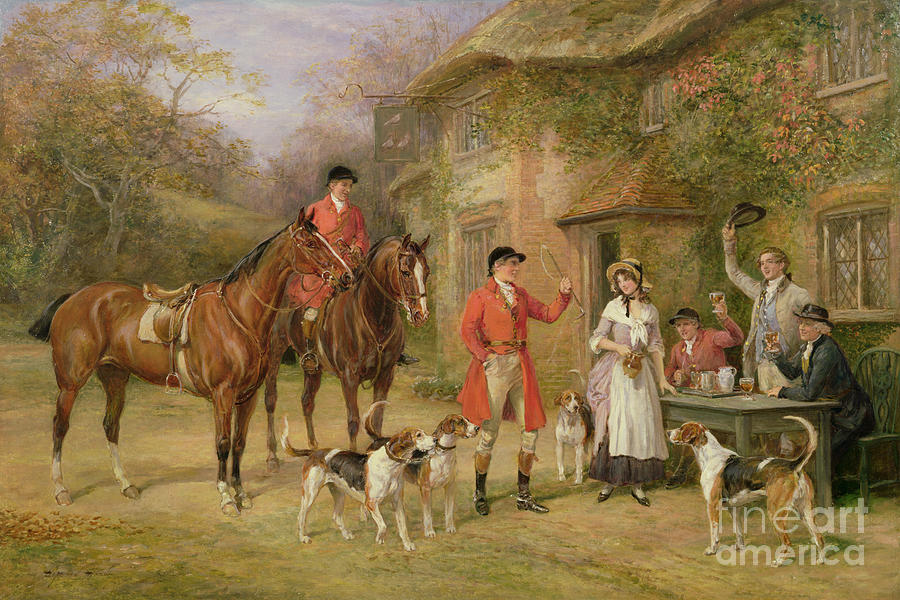 English Painting - A Meeting At The Three Pigeons by Heywood Hardy